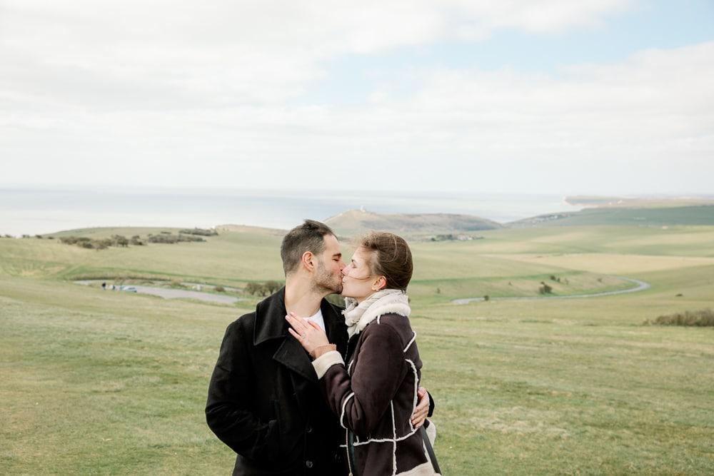 Proposal at Seven Sisters Cliffs