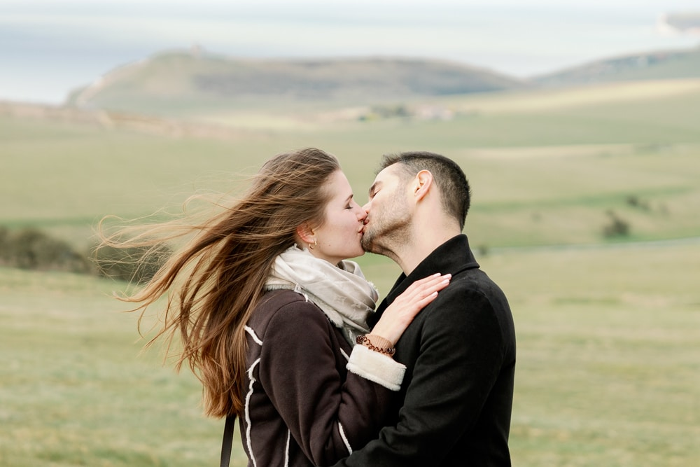 Proposal at Seven Sisters in Spring