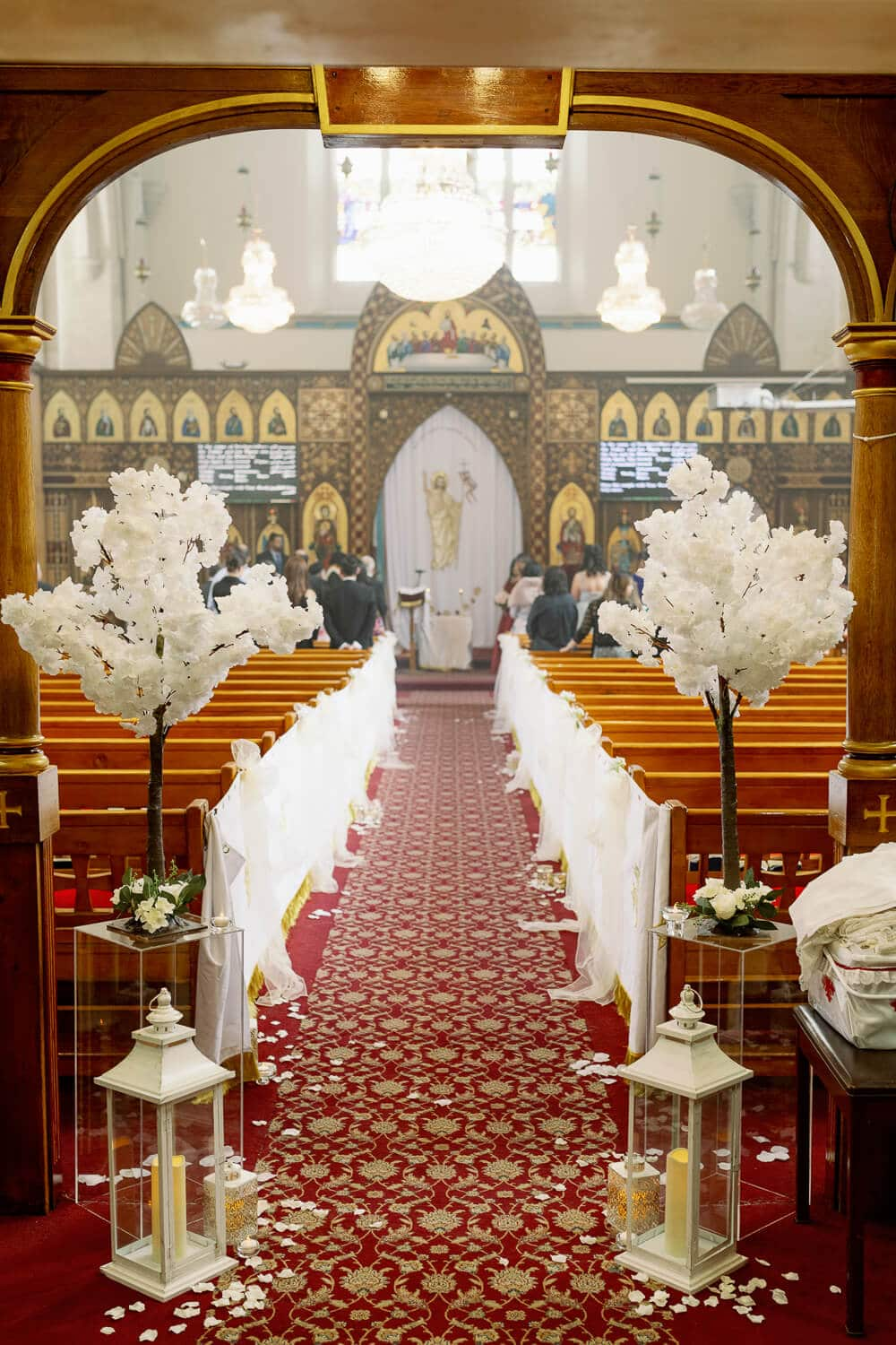 Rite of Betrothal ceremony at St. Mary and St. Abraam Coptic Orthodox Church