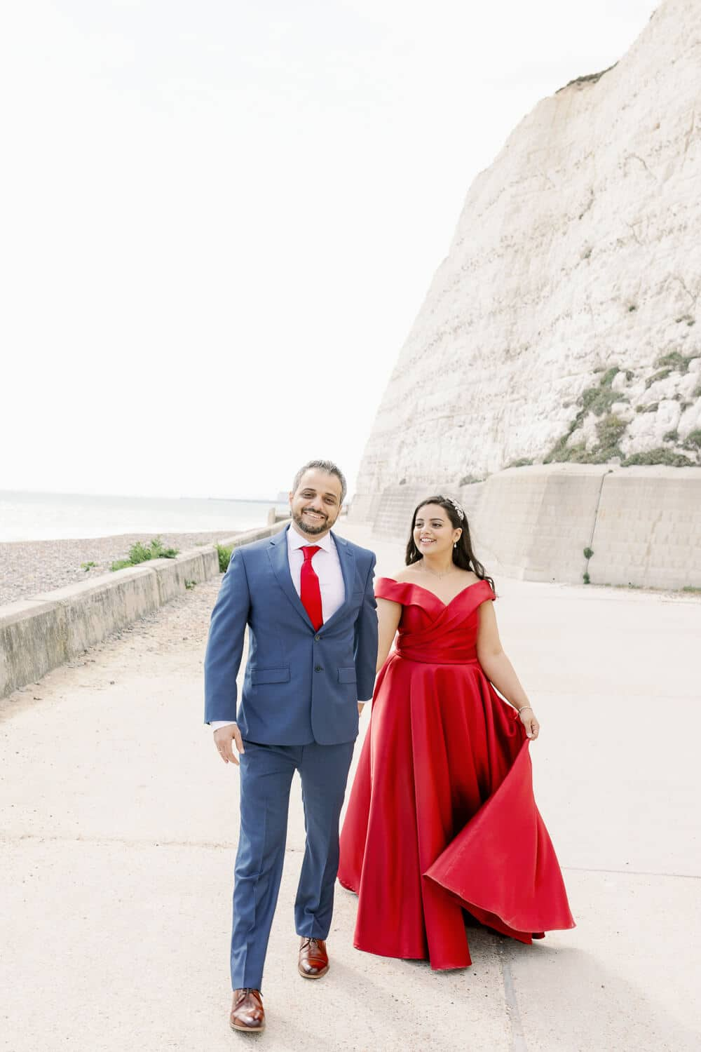 Seafront engagement photography in Rottingdean