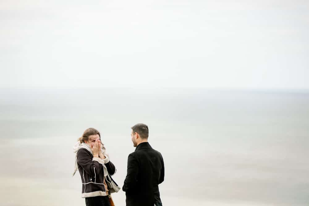 Surprise proposal on Seven Sisters white cliffs
