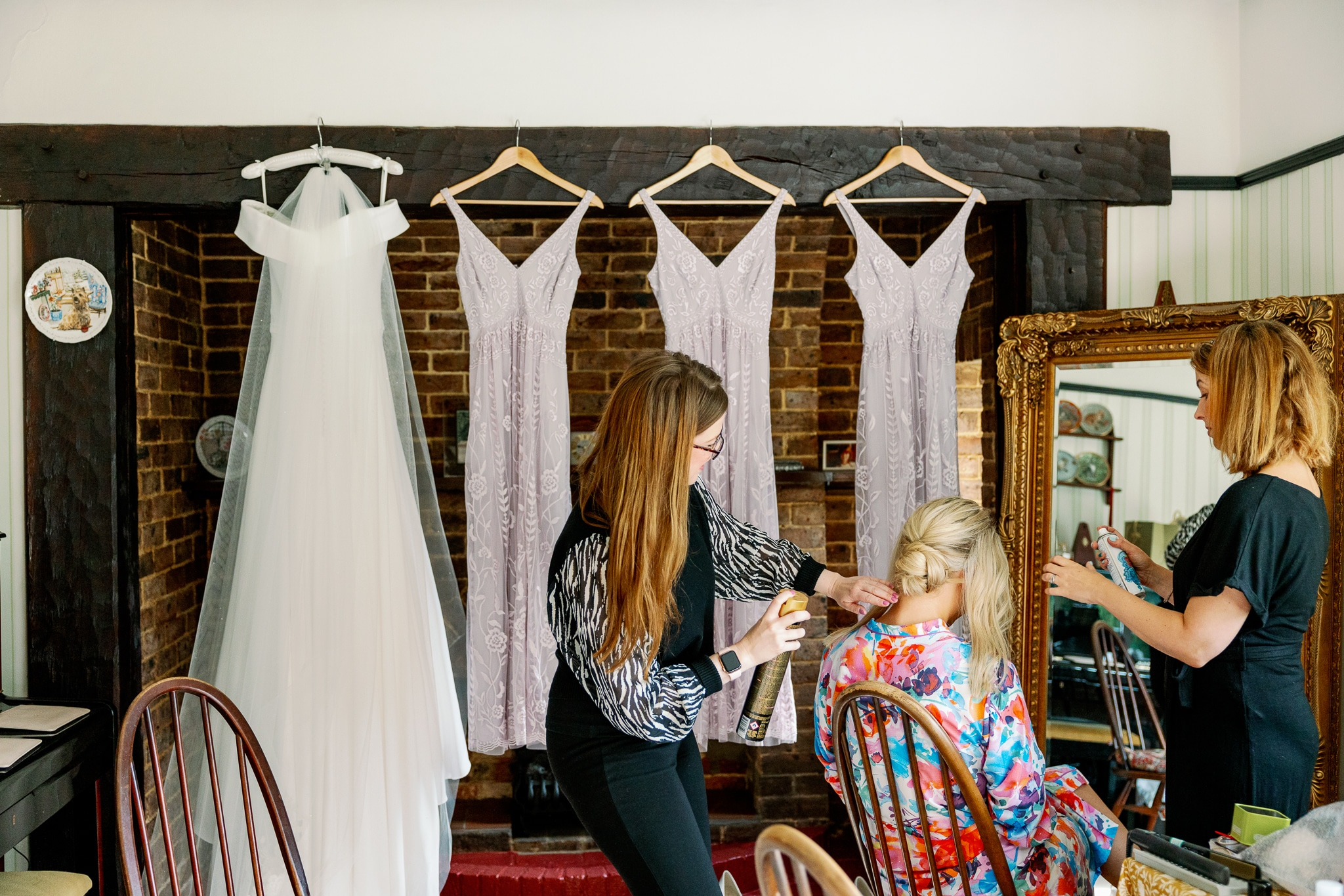 Bexhill-on-sea wedding photography of bride getting ready
