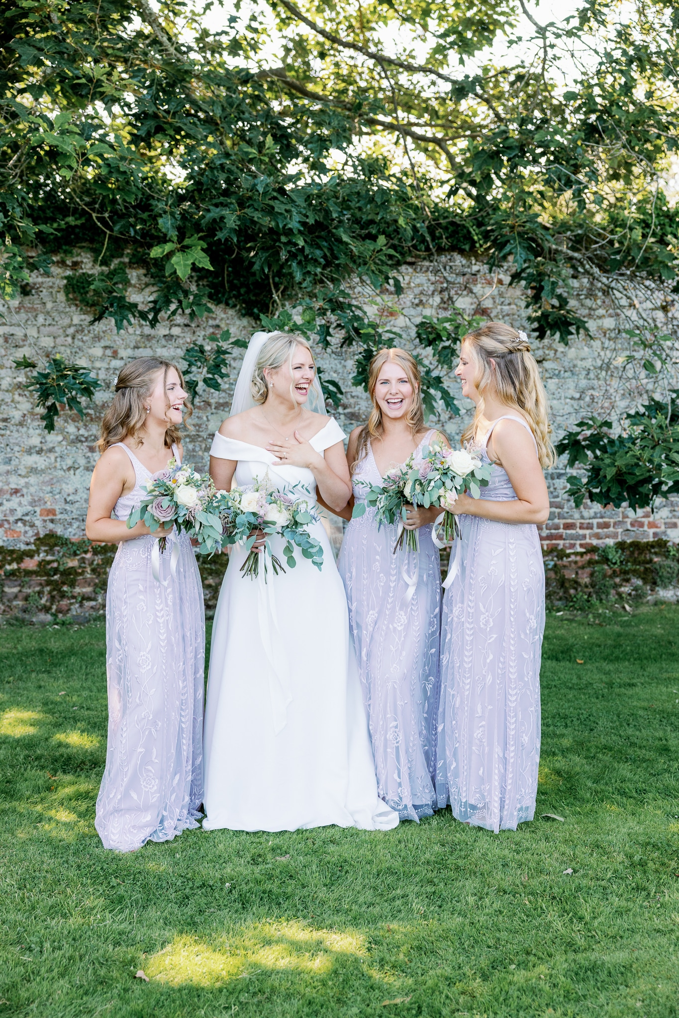 Bridal party at Brickwall House wedding venue in Hastings