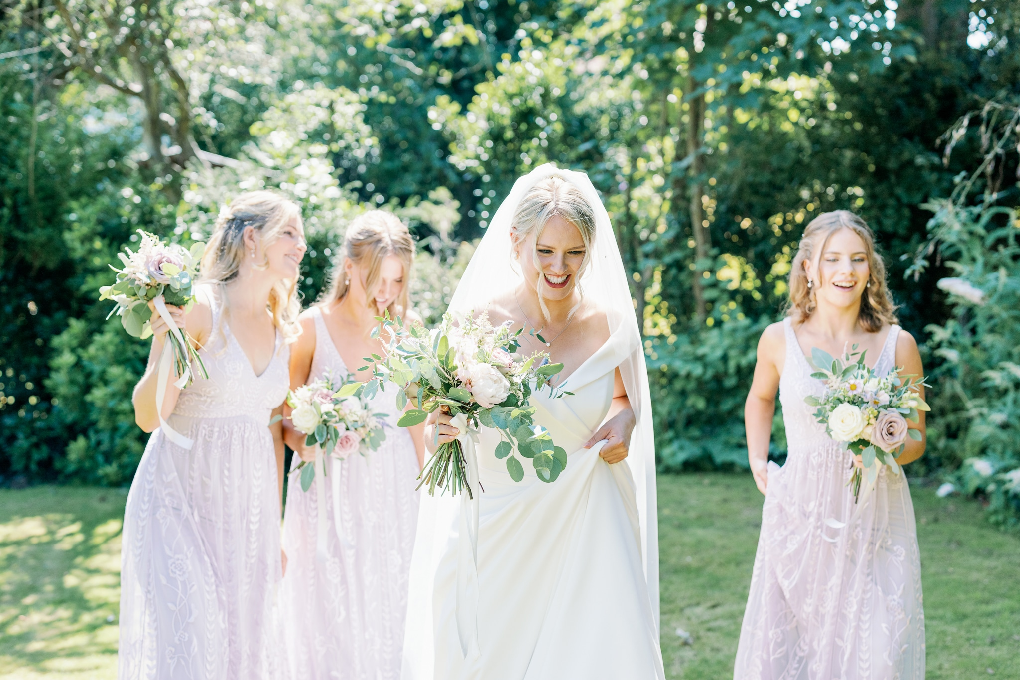 Bridal party formals with East Sussex wedding Photographer