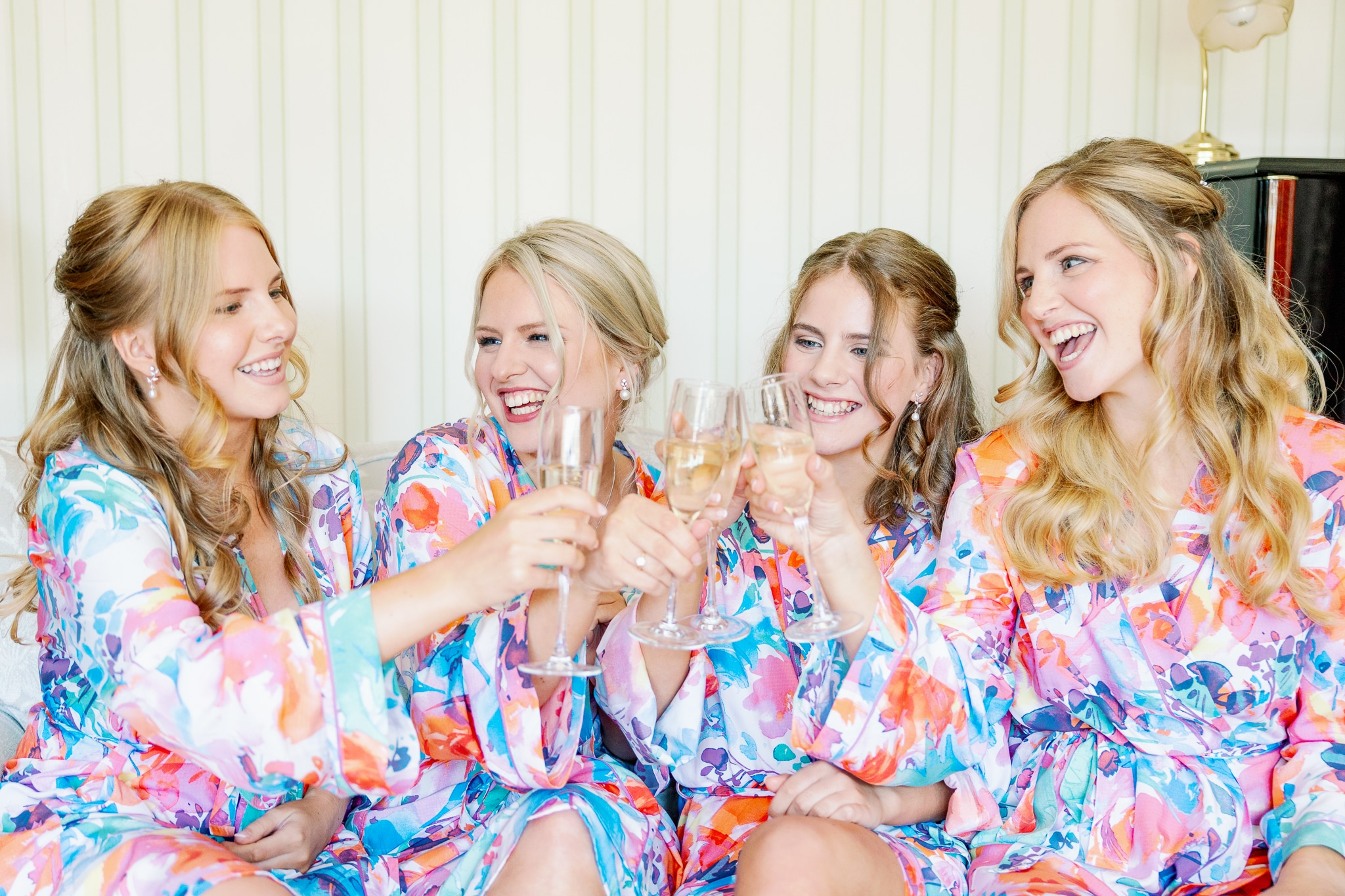 Bridal party getting ready with Hastings wedding Photographer