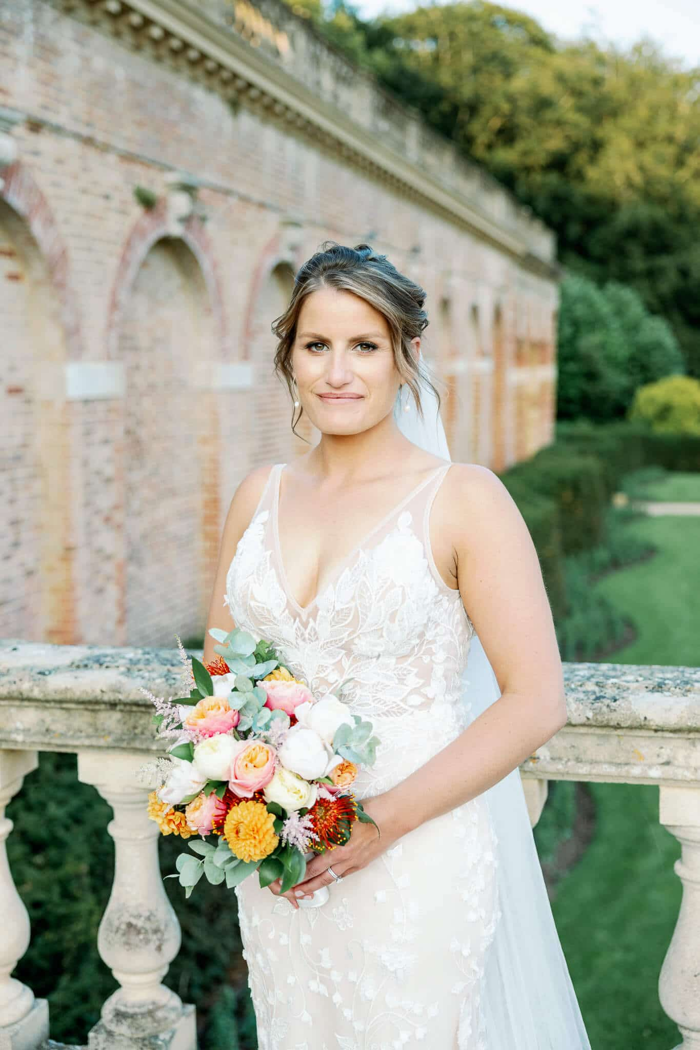 Bridal portrait with berkshire wedding photographer
