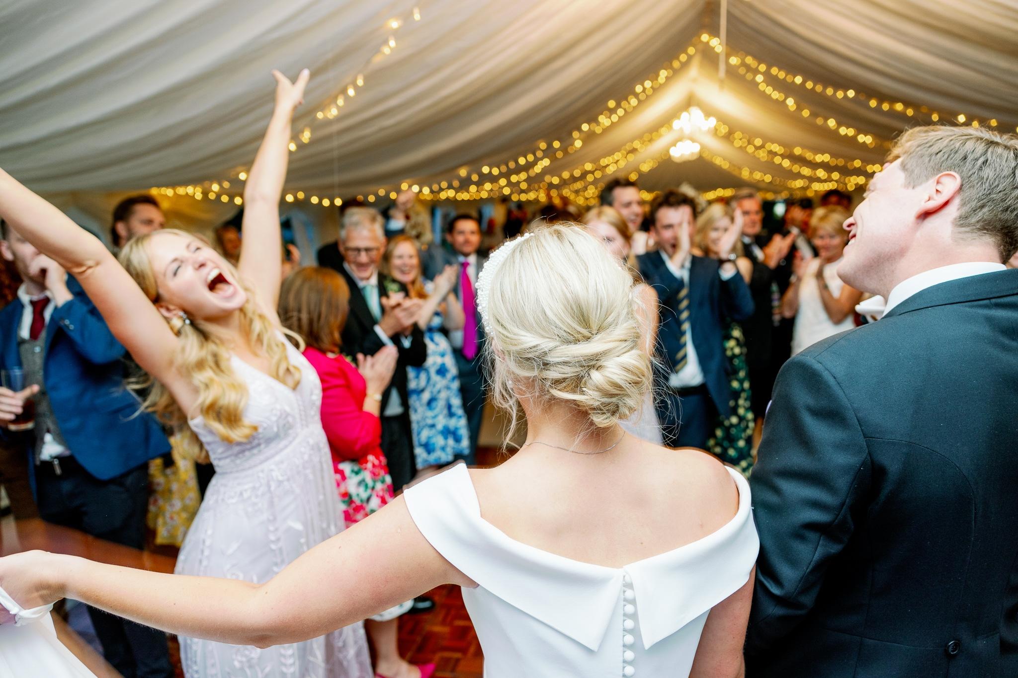 Dancing in East Sussex Marquee wedding venue Brickwall House