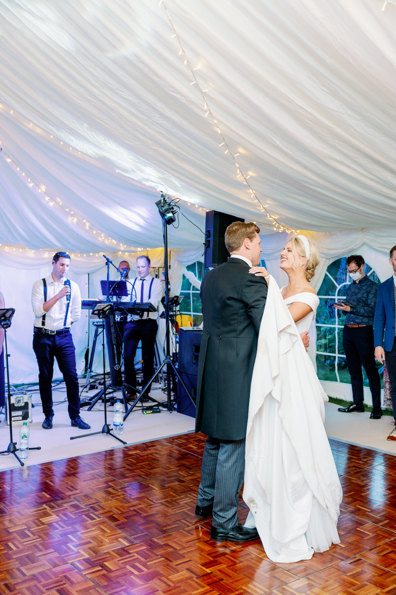 East Sussex marquee wedding with Pandora's Jukebox at Brickwall House wedding