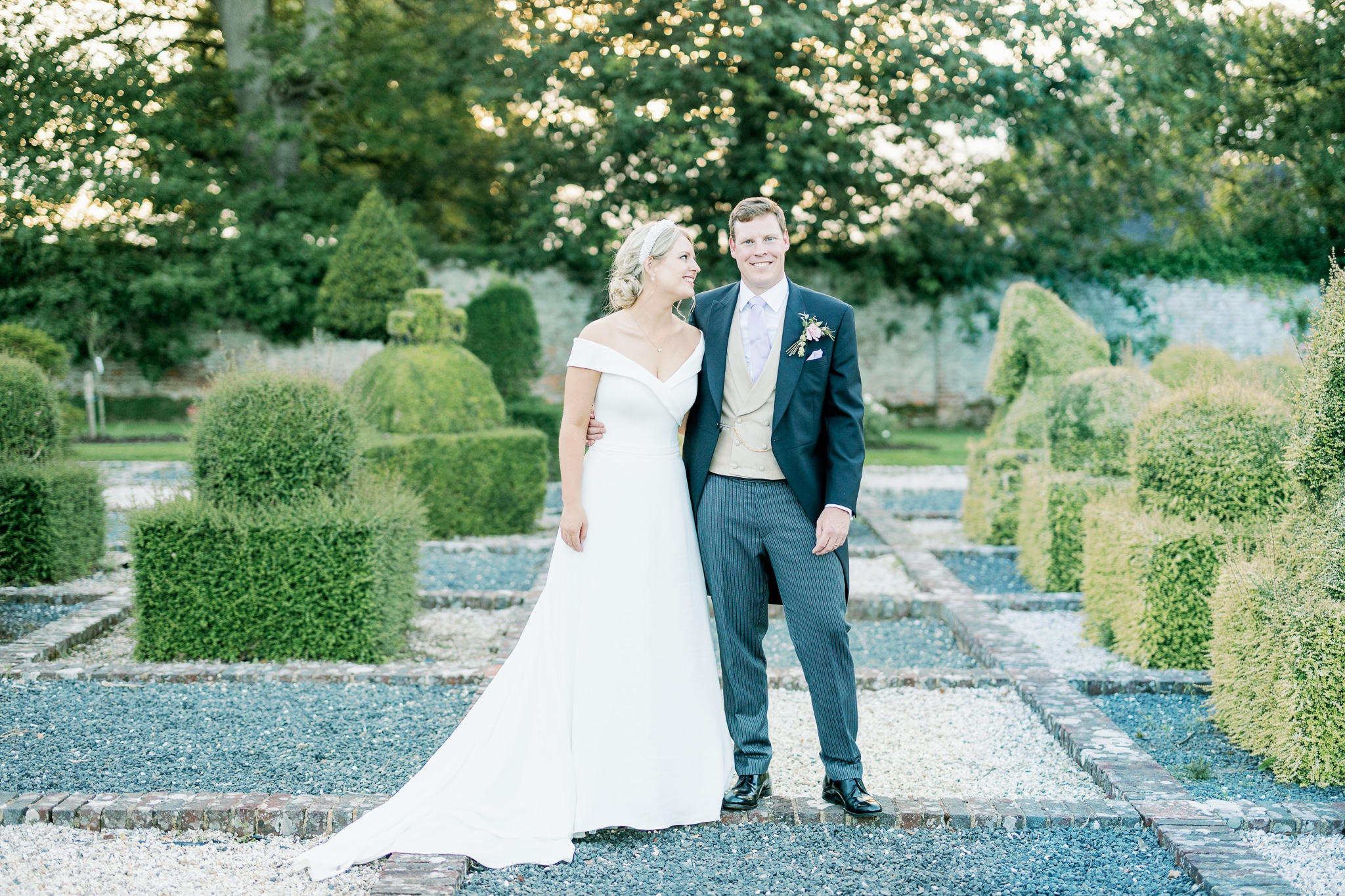 Brickwall House walled garden wedding photography in Rye