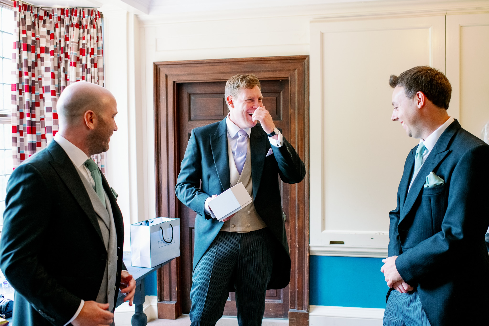 Groom and ushers with East Sussex wedding photographer
