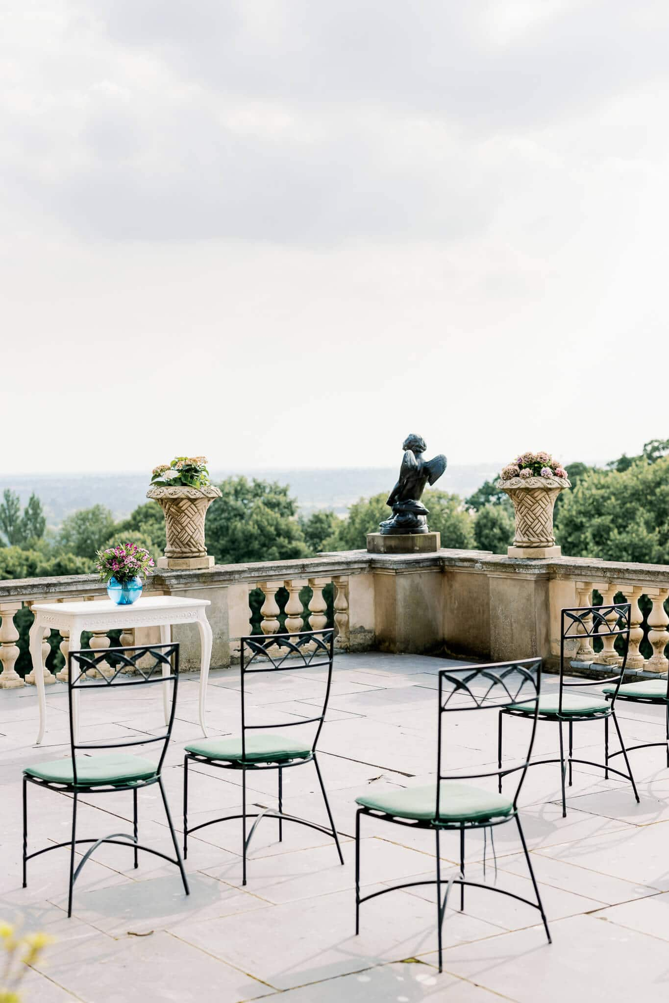 Humanist outdoor ceremony on terrace | wedding photographer in Maidenhead