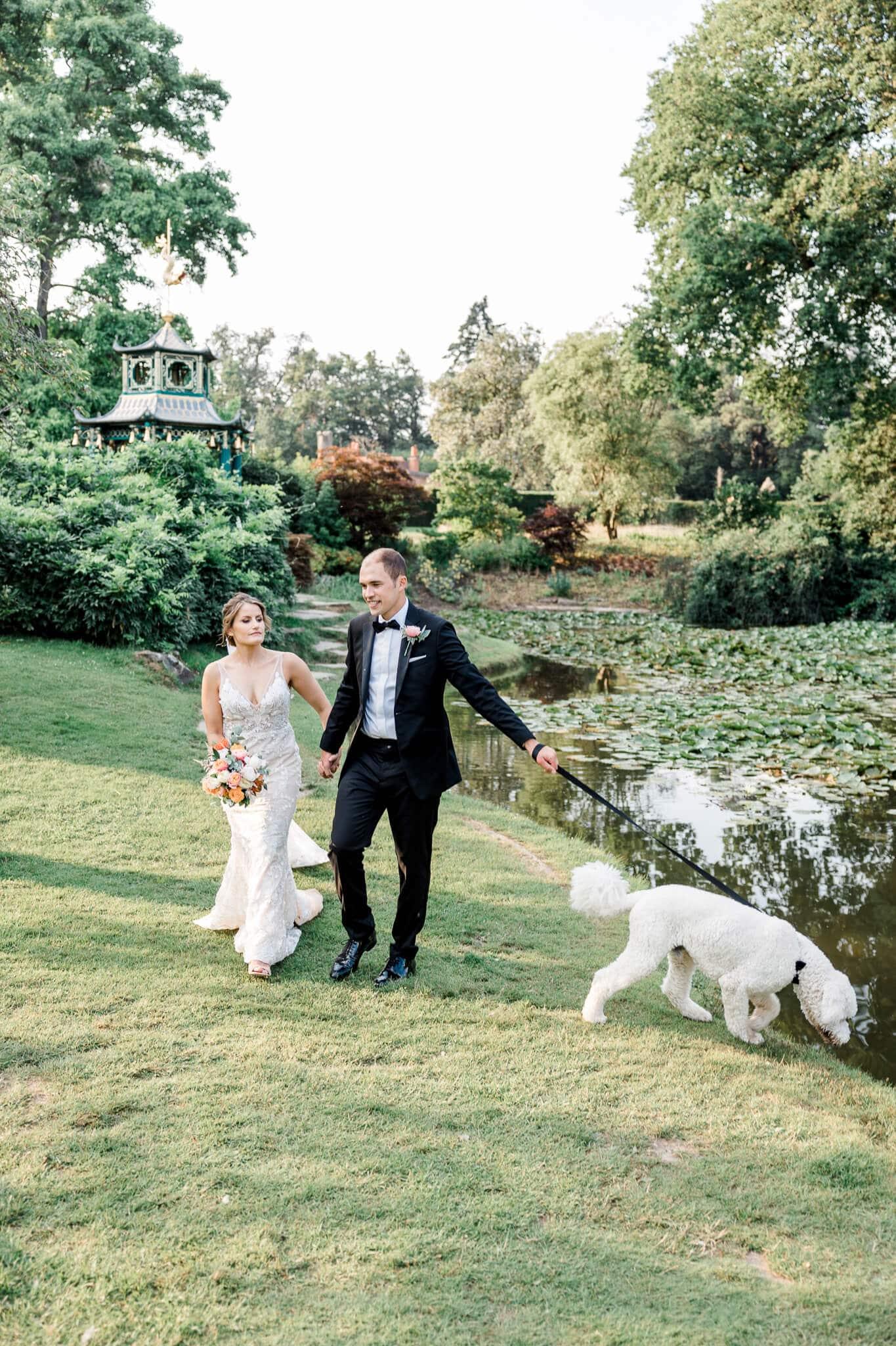 Japanese Garden wedding photography at Cliveden House | Berkshire weddings