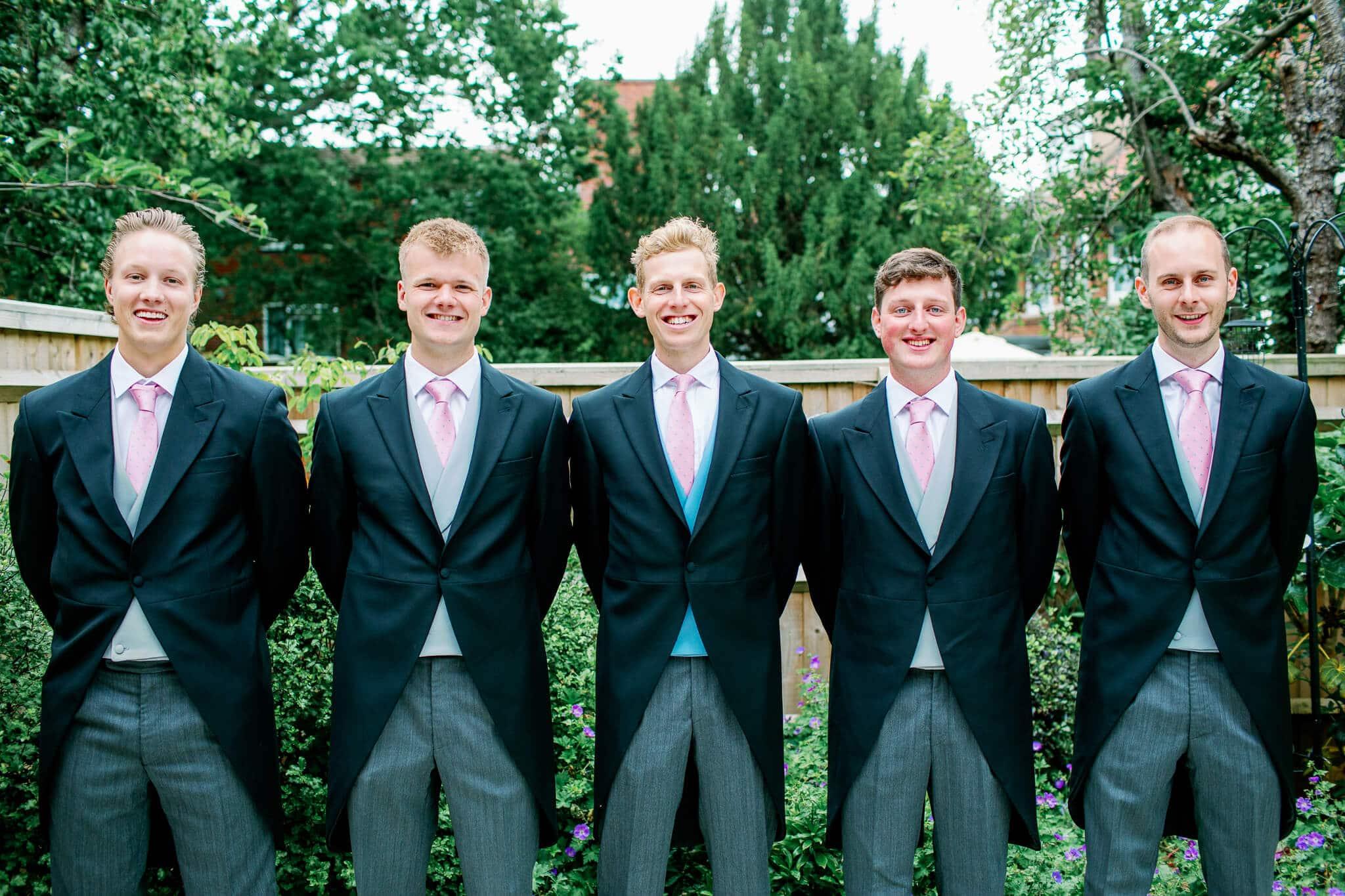 Lains Barn wedding photography of ushers