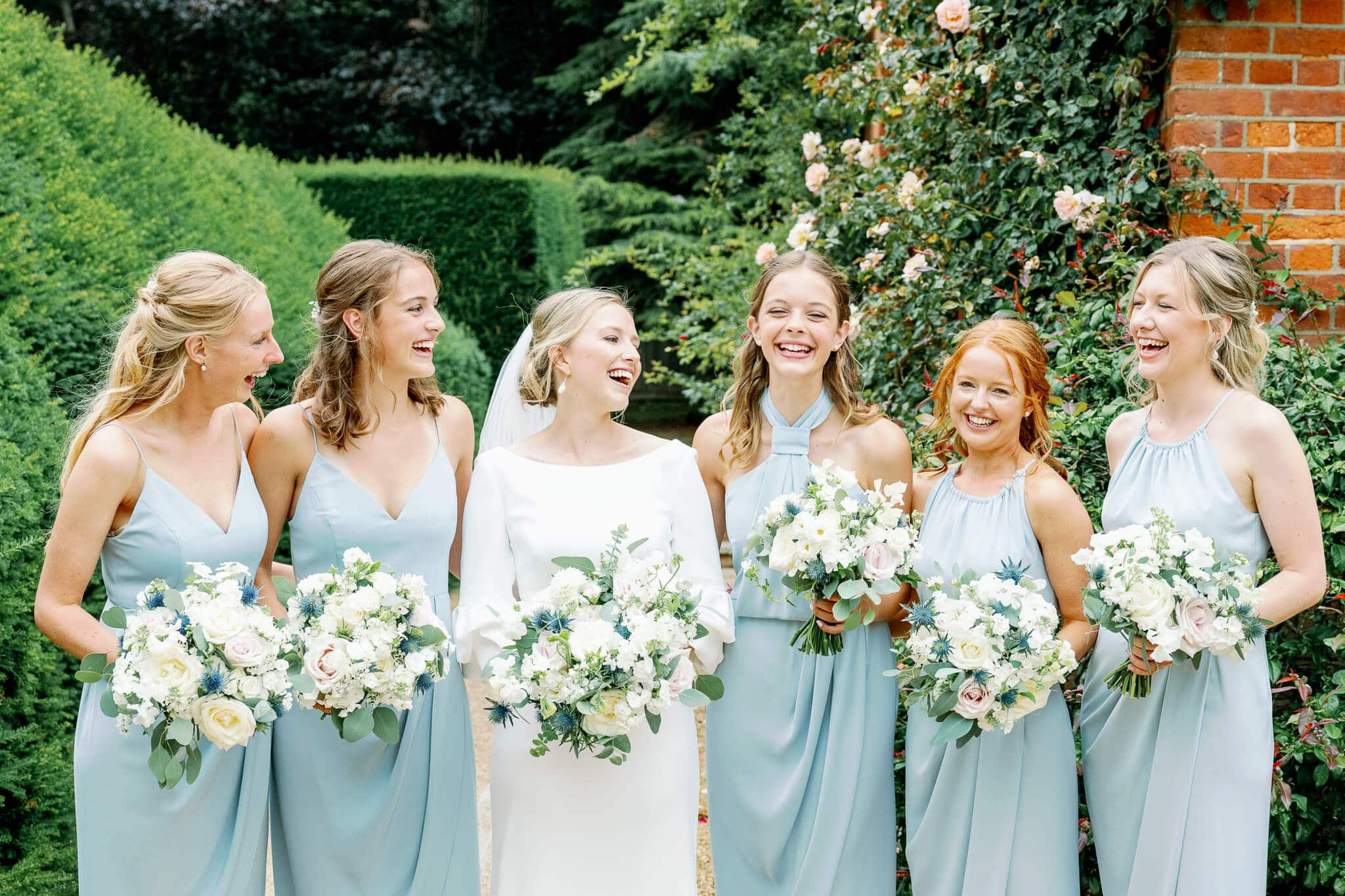 Lains Barn wedding photos of bridesmaids