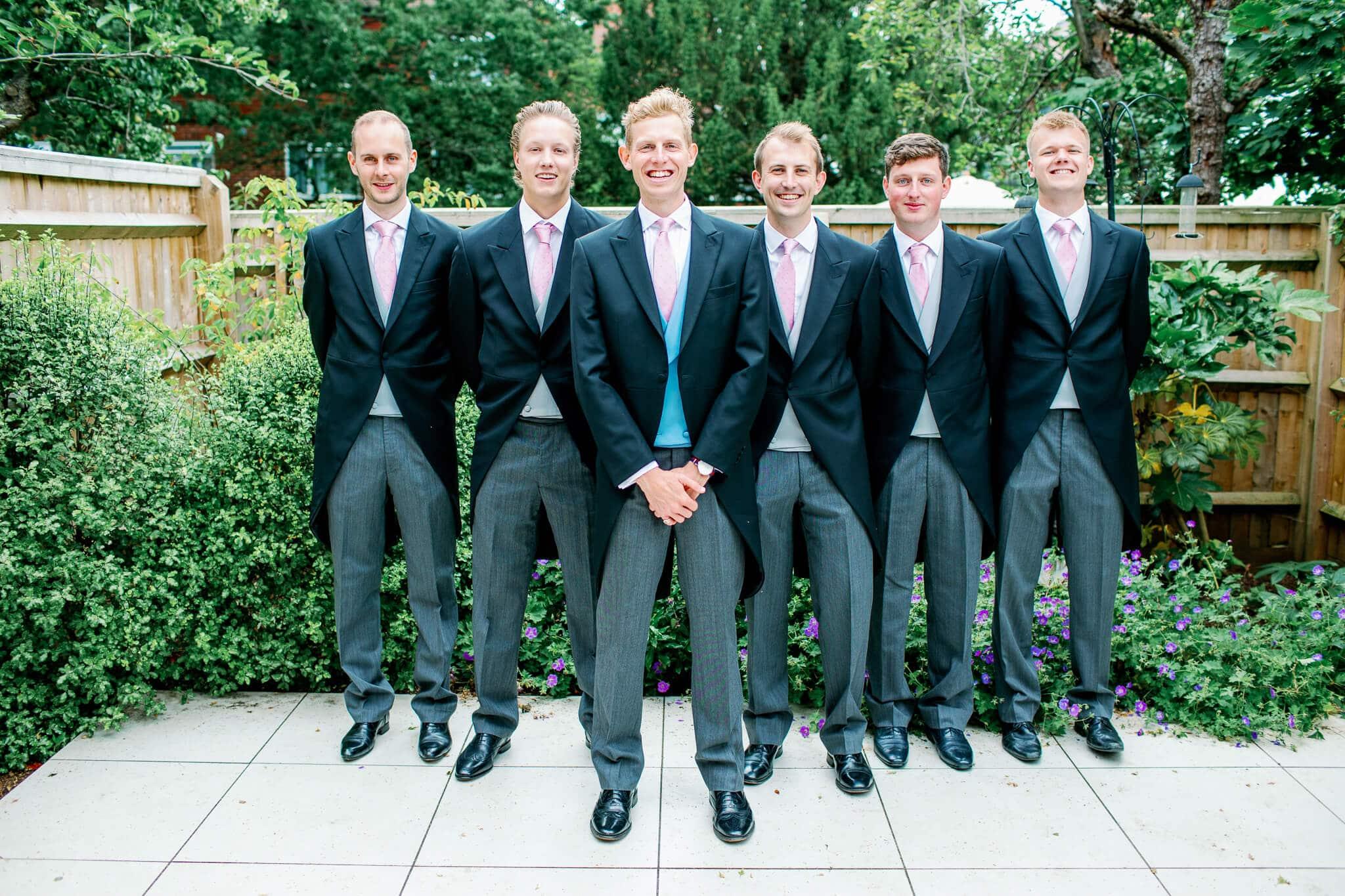 Lains Barn wedding ushers