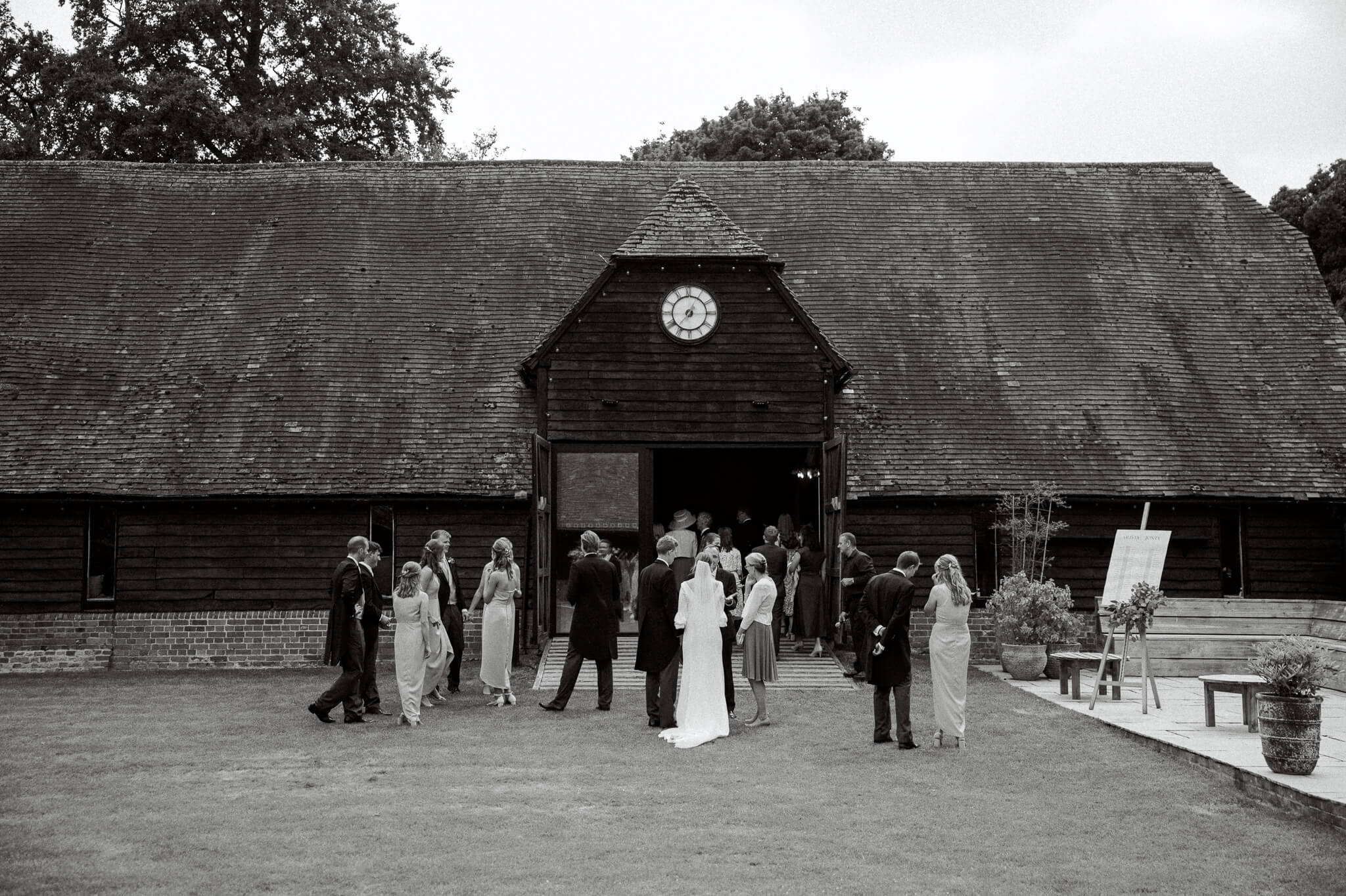 Lains Barn wedding venue black barn exterior