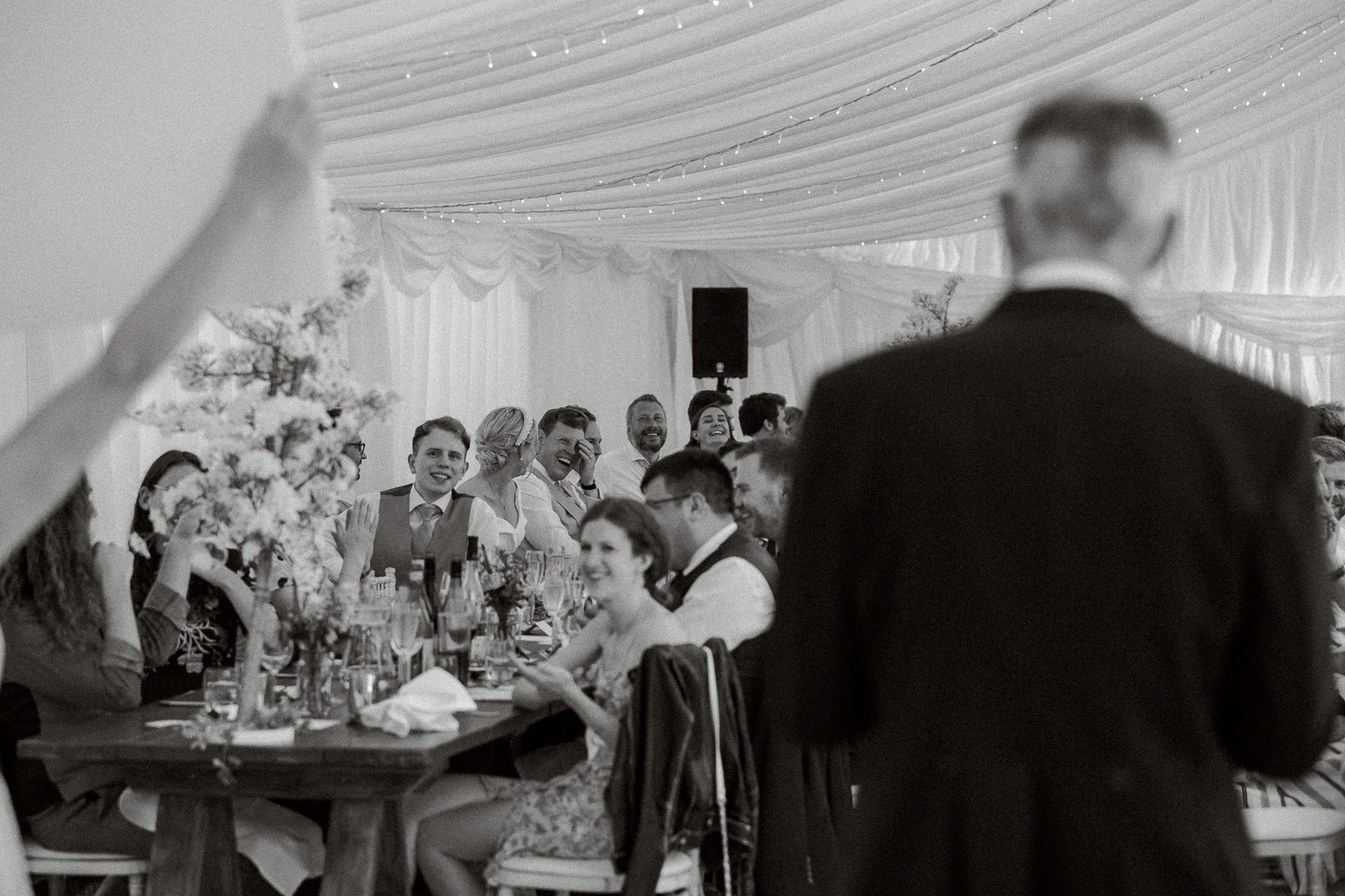 Marquee wedding creative speech idea for East Sussex wedding
