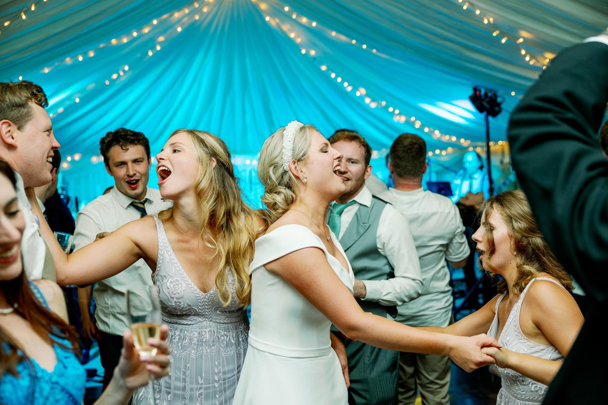 Marquee wedding dance floor in Hastings