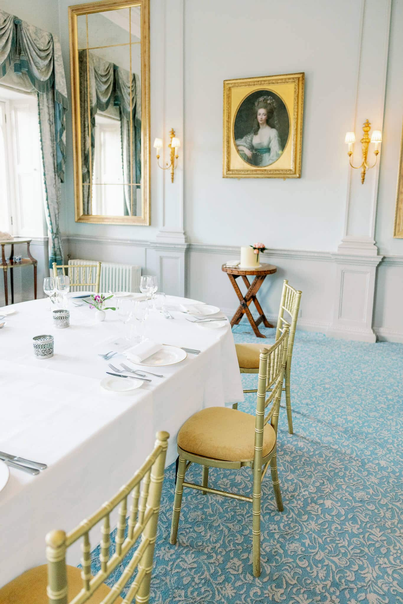 The boudoir private dining room for cliveden house weddings
