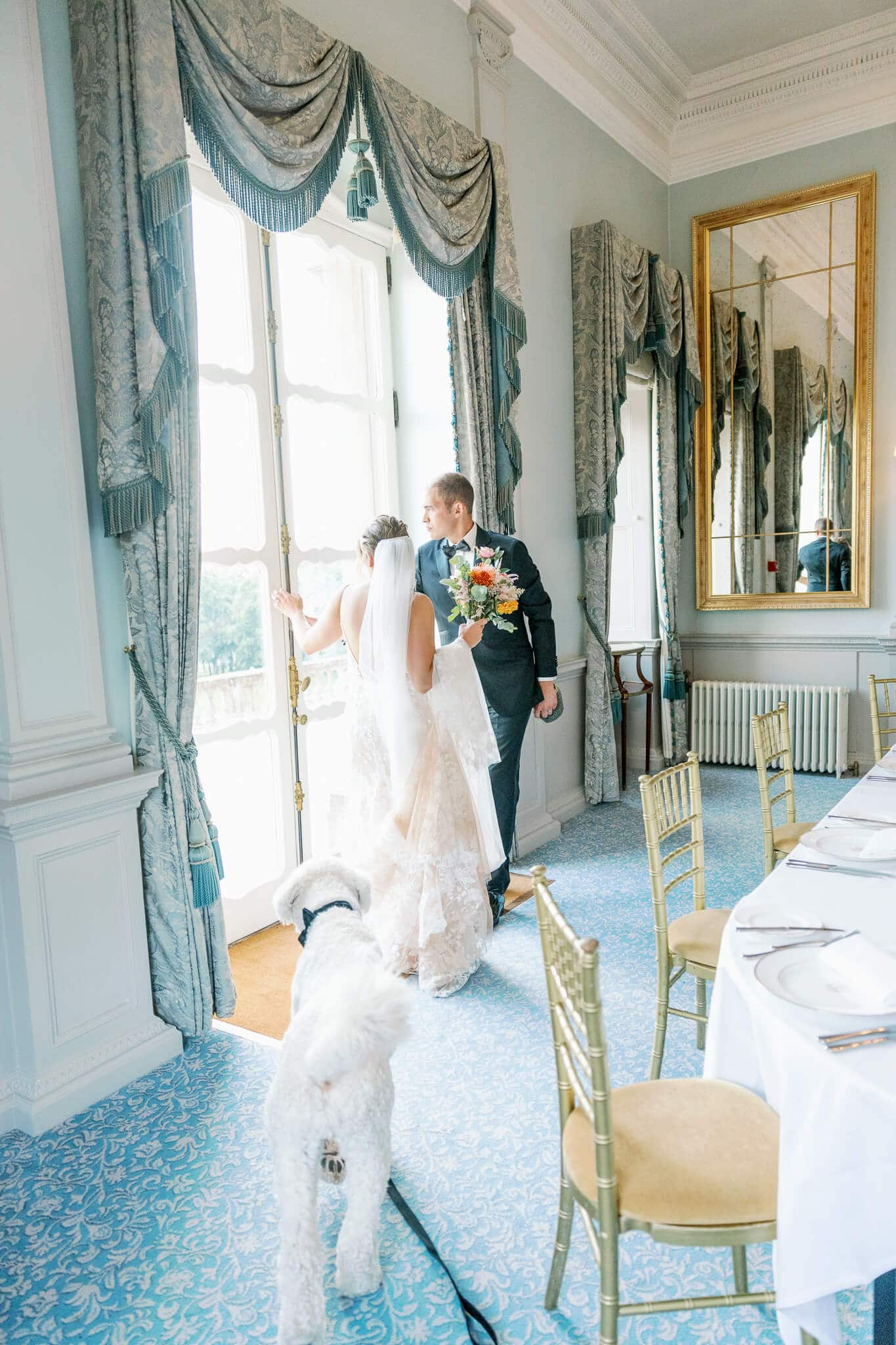 The boudoir room intimate weddings cliveden house