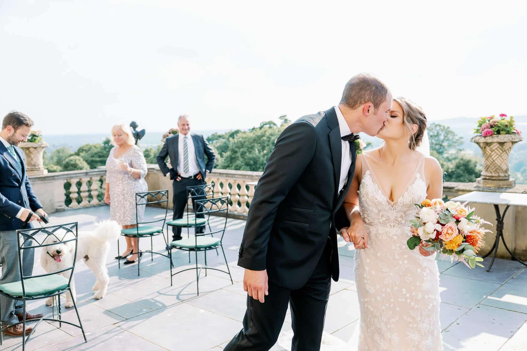 Wedding photography berkshire outdoor ceremony