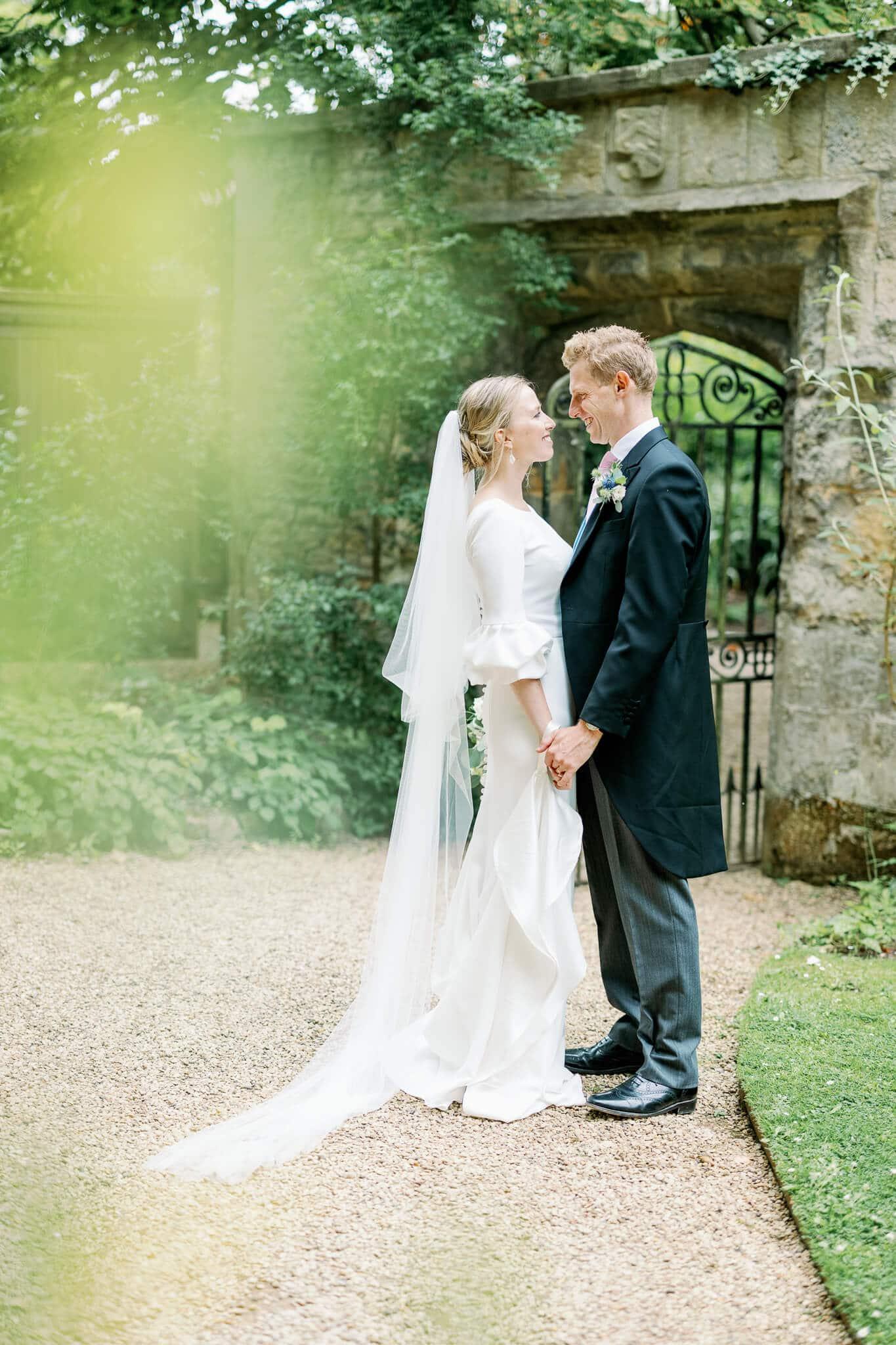 Worcester college wedding photos in Oxford