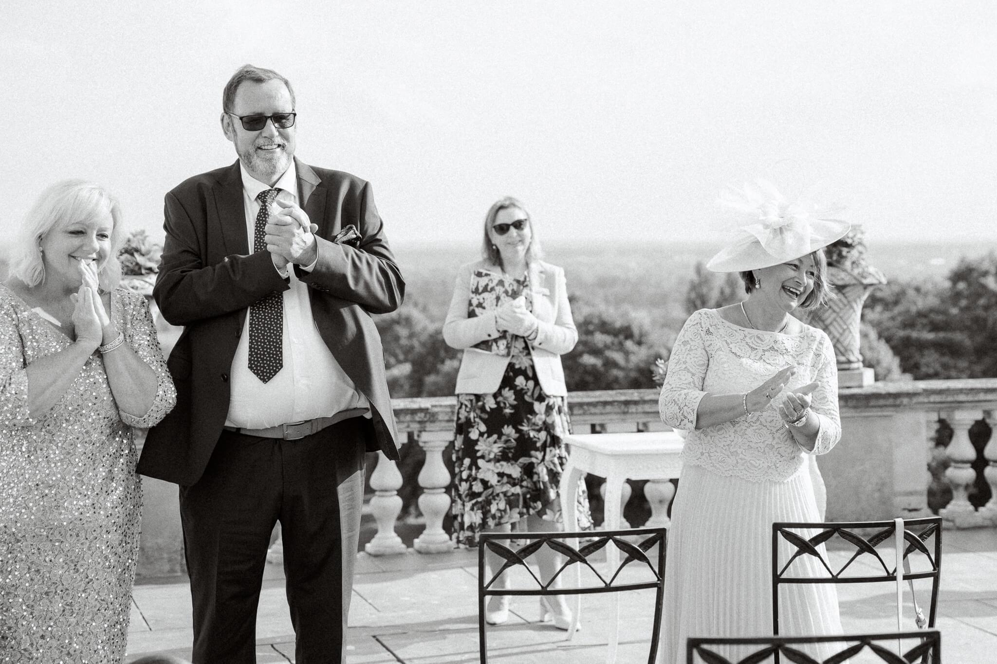 outdoor ceremony light and airy | Wedding photographer maidenhead