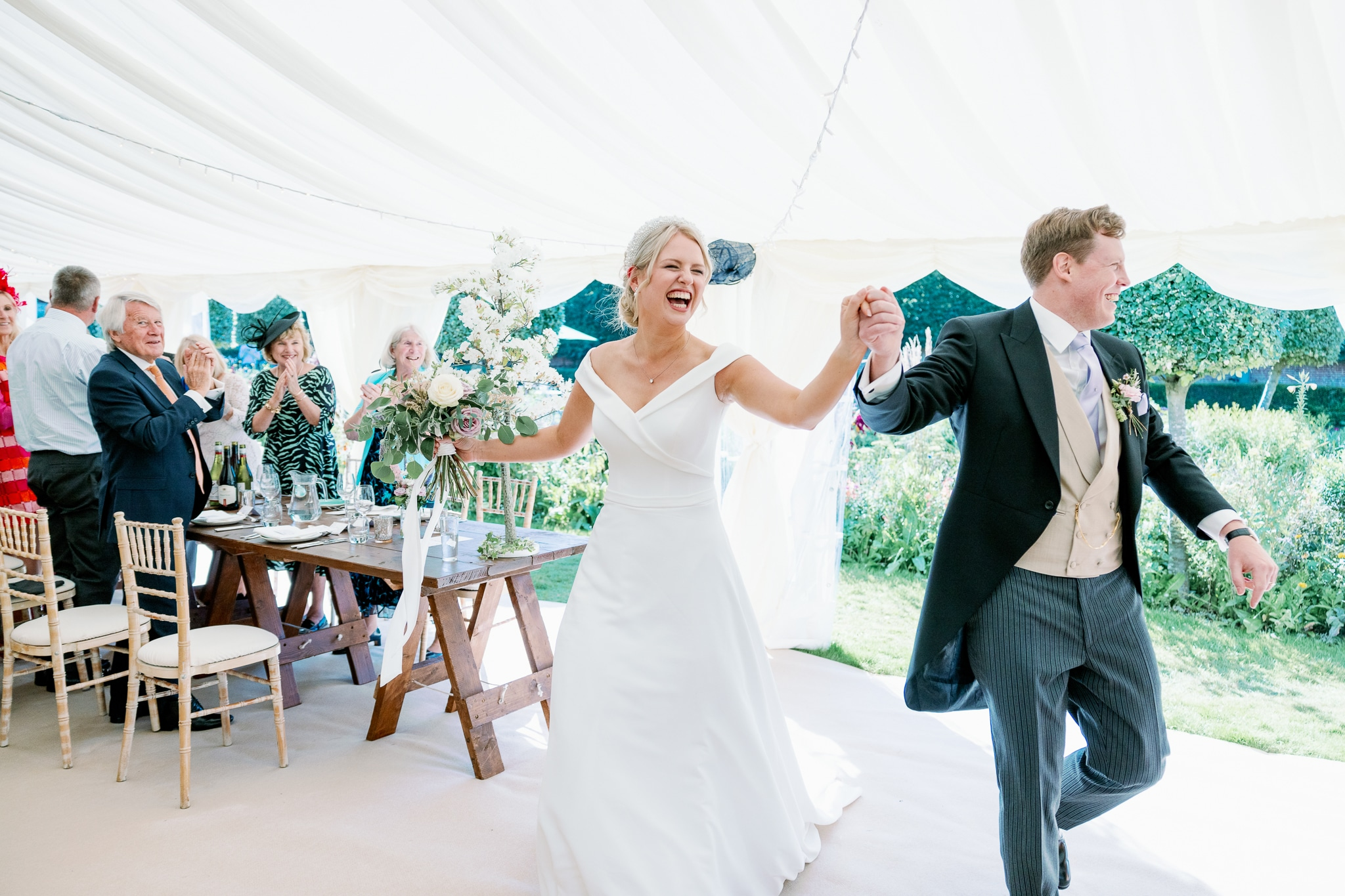 entrance into marquee with Hastings wedding photographer
