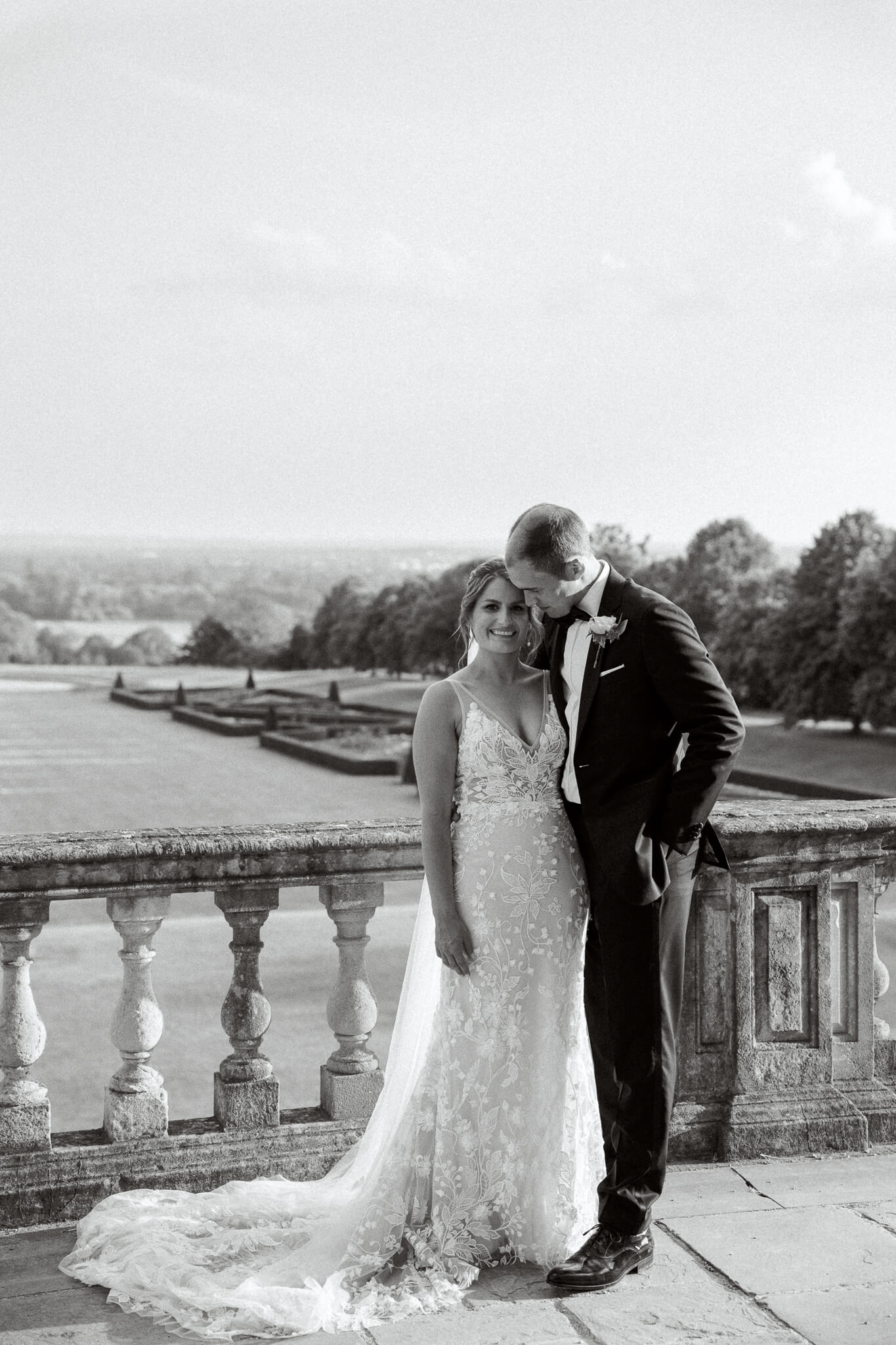 wedding venues south west london | couple with Cliveden House wedding photographer