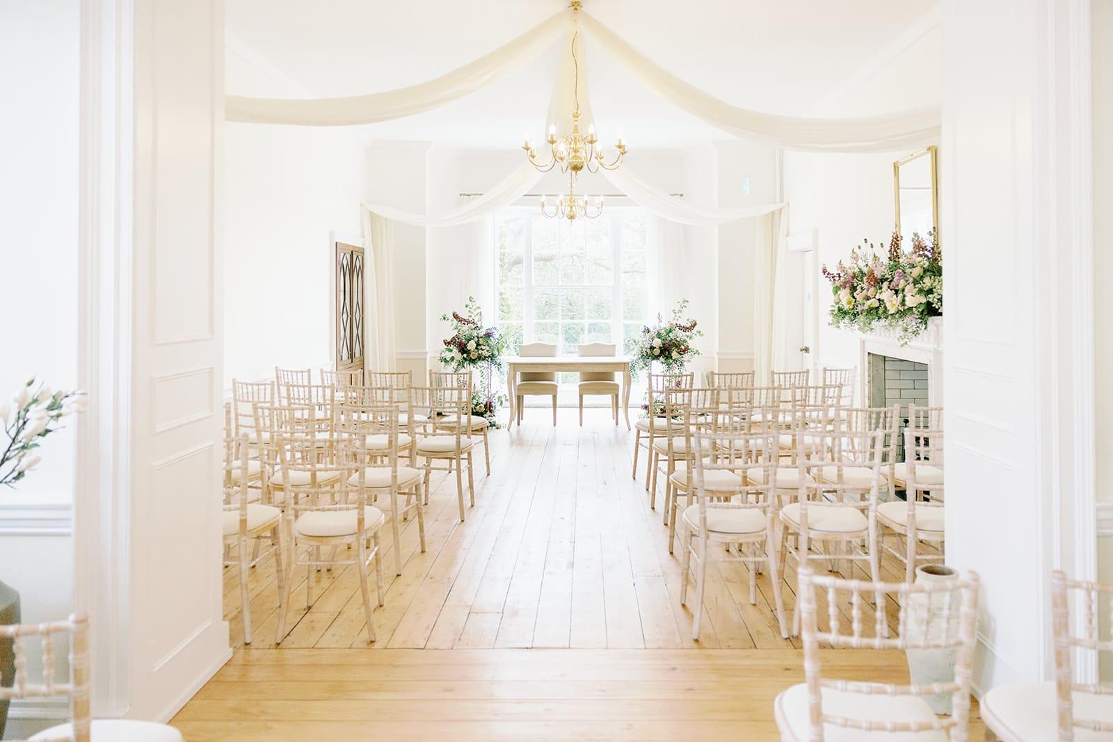 Ceremony at Pelham House wedding venue in Lewes
