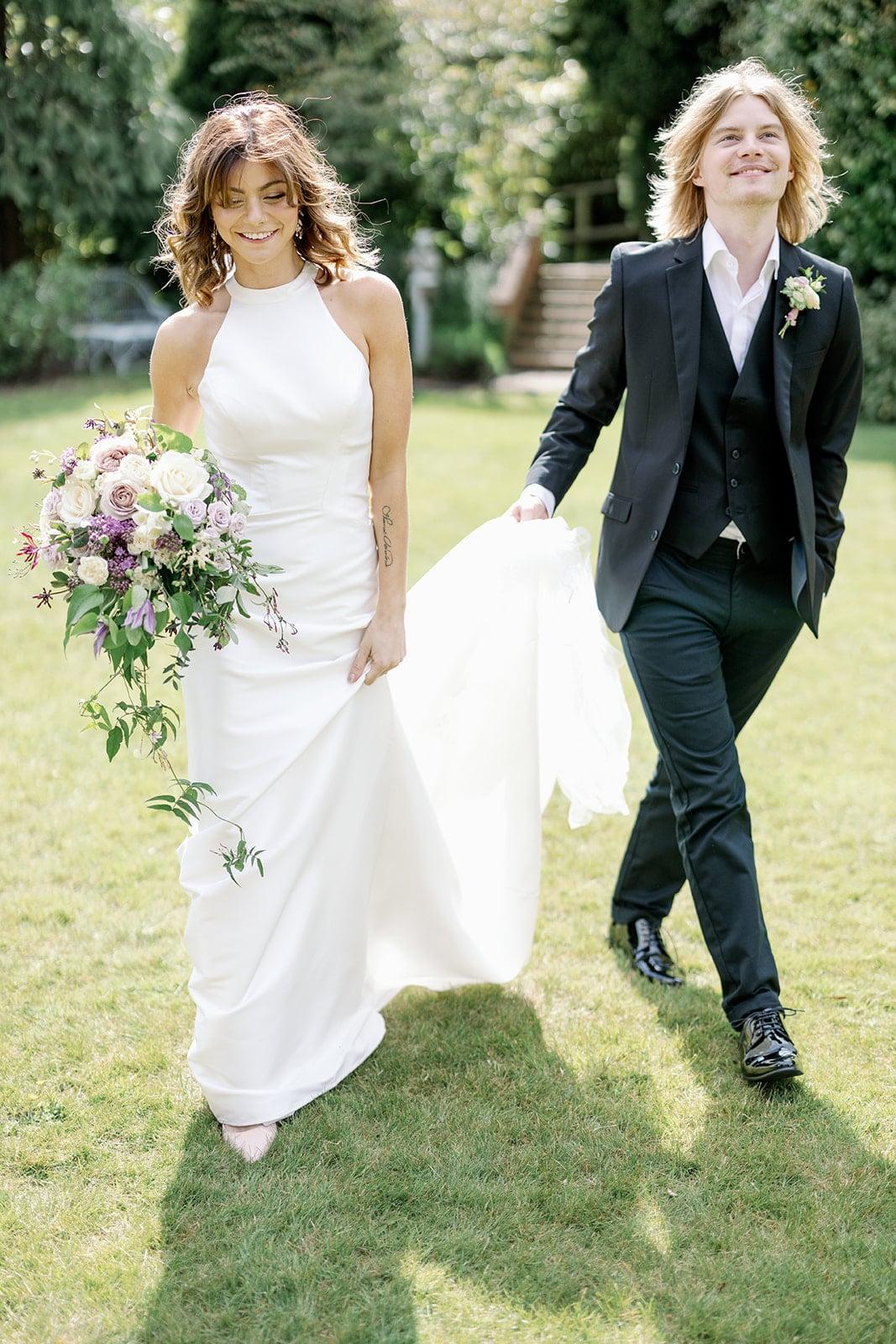 Pelham House wedding photos with wedding photographer Sussex UK